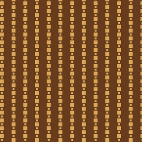 JP22  - Small - Floating Check Stripes in Golden Camel on Brown