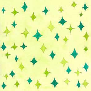Blue & Green Stars