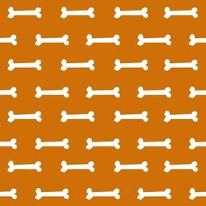 dog bones fabric - bones fabric, rust