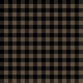 plaid - brown and black