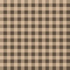 plaid - brown and tan