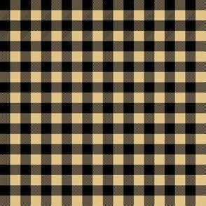plaid fabric - tan and black
