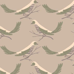 Pretty Birds ~ Taupe
