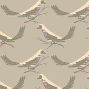 Pretty Birds ~ Light Sage