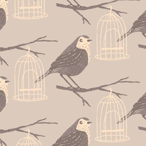 Wrens ~ Soft Grey