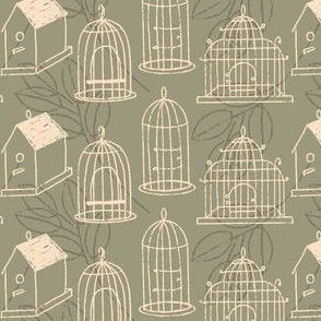 Bird cages and Houses ~ Sage