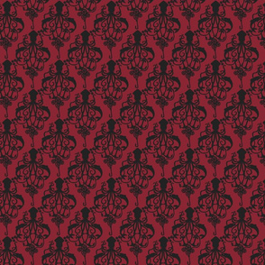 Squid Damask Ruby Light - Small Scale