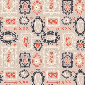 Valentine Frames ~ Grey