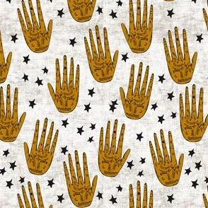 zodiac palms gold black and white reduced