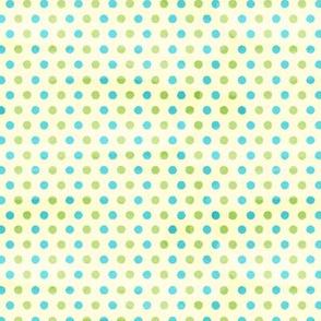 Green and Blue Polka Dots - Small