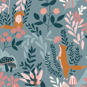 Whimsical forest (blue)