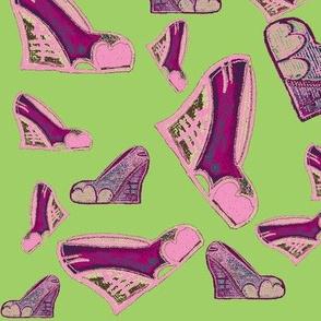 Vintage Wedge shoe Paterrn