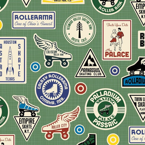 All Skate Vintage Roller Rink Stickers