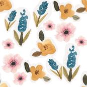 Spring Meadow Watercolor Floral