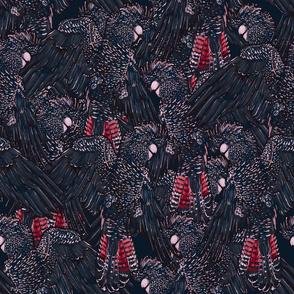 Black Cockatoos Flock