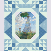 Monet Cheater Quilt-Woman With a Parasol