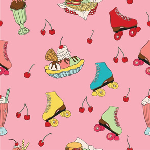 Roller skates and cherries