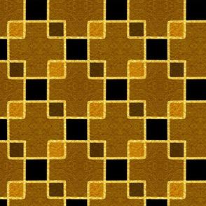 Gold Foil Boxes in Bronze Tile