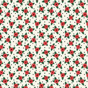 Retro Roses & Polka Dots (Small Scale)
