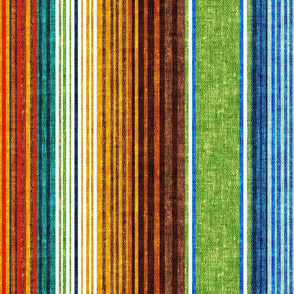 serape southwest stripes - green/yellow/brown (90) - LAD20