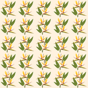 Birds of Paradise - Tropical Strelitzia #1 Creamy Beige, small