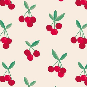 Little Cherry love garden for spring summer red soft beige green nursery design