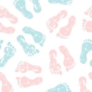 baby feet - pink & blue - nursing - LAD20