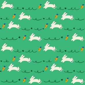 rabbits-green