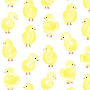 """(2"""" scale) watercolor chicks -  spring easter - C20BS"""