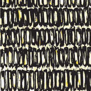 black and yellow abstract block