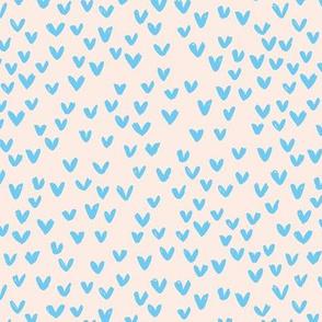 Little love abstract inky lovers minimal Scandinavian trend design blue beige sand