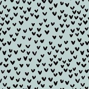 Little love abstract inky lovers minimal Scandinavian trend design monochrome blue gray neutral nursery