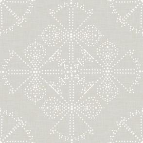Delicate Dotty Fans - Neutral gray