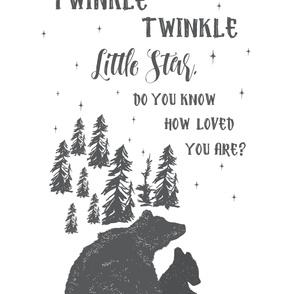 """54""""x72"""" Twinkle Twinkle Little Star"""