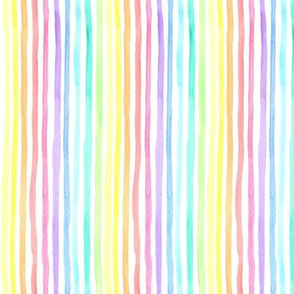 Pastel Rainbow Watercolour lines