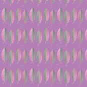 Tropical fern on purple
