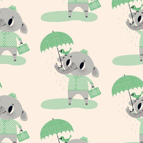 Rainy Day Friends ~ Green