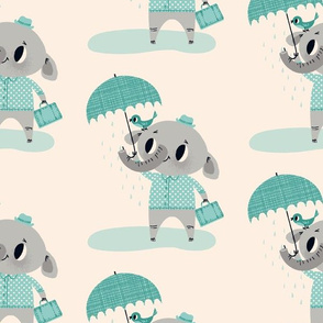 Rainy Day Friends ~ Blue