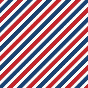 """1/2"""" American Stripes // Diagonal"""