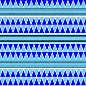 blue green triangle repeat