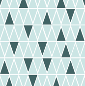 green white triangles