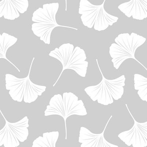 Minimal love gingko leaf garden japanese botanical spring leaves soft neutral nursery gray white