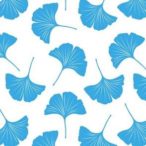 Minimal love gingko leaf garden japanese botanical spring leaves soft neutral nursery blue