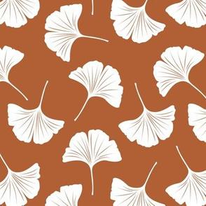 Minimal love gingko leaf garden japanese botanical spring leaves soft neutral nursery rust copper white
