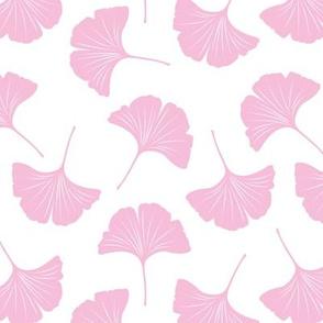 Minimal love gingko leaf garden japanese botanical spring leaves soft neutral nursery white pink girls