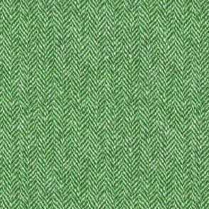faux tweedy kelly green herringbone tweed