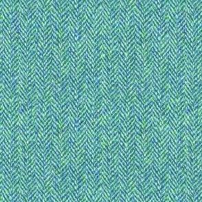 faux tweedy aqua herringbone tweed