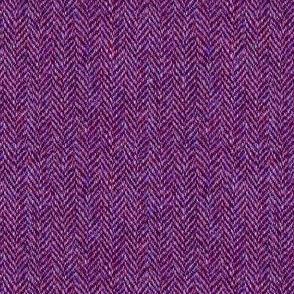 faux tweedy red-violet herringbone tweed