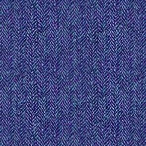 faux tweedy blue-violet herringbone tweed
