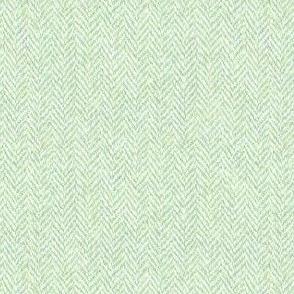 faux tweedy pale green herringbone tweed